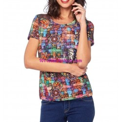 camiseta top verano marca Dy design 10001LVRA marcas paris