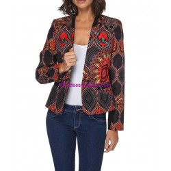 jacket print plus size label 101 IDEES 052CAS