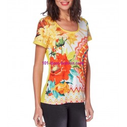 camiseta top estampada verano 101 idées Design 558AMVRA