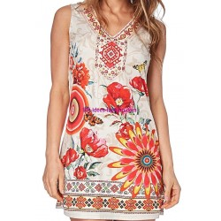 dress tunic suede summer ethnic 101 idées 332Y boutique clothing
