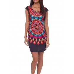 shop dress tunic print summer 101 idées 171VVRA ethnic wear