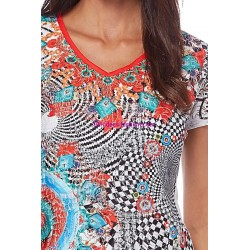 buy top lace summer ethnic brand 101 idées Design 294VRA online