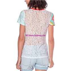 top lace summer ethnic brand 101 idées Design 454Y indian clothes