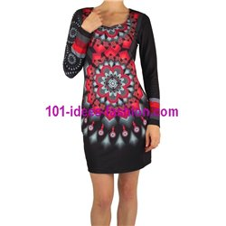 dress tunic print mid season 101 idées 402VC New winter collection