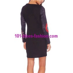 dress tunic lace ethnic winter 101 idées 237W paris french
