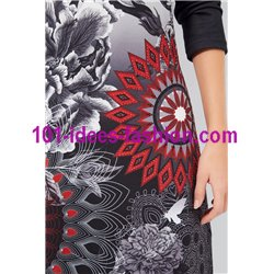dress plus size print winter 101 idées 185W LARGE desigual style