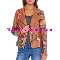 jacket suede perfecto label 101 IDEES 338CAS desigual style