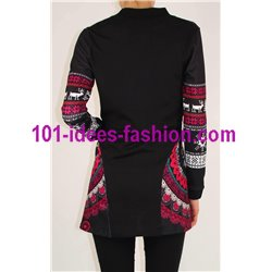 jacket long sleeve ethnic label 101 IDEES 059IN store uk