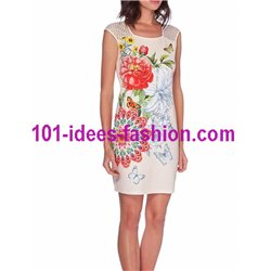 dress tunic lace ethnic chic summer 101 idées 630Y Spring Summer 2018