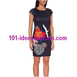dress tunic ethnic floral print summer 101 idées 116Y Spring Summer