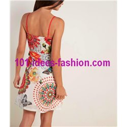 dress tunic ethnic floral print summer 101 idées 1651Y Spring Summer