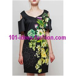 dress tunic ethnic floral print summer 101 idées 2333Y