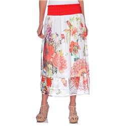 maxiskirt ethnic floral summer 101 idées 1514Y womens clothes sale