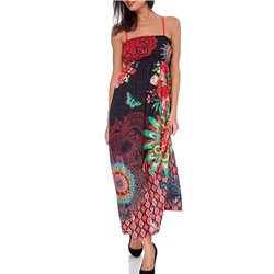 maxidress ethnic floral summer 101 idées 1649Y womens clothes sale