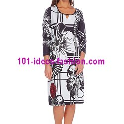 dress plus size print winter 101 idées 032W LARGE clothes for women