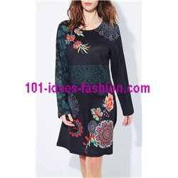 dress tunic floral plus size 101 idées 652LZ clothes for women