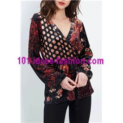 oberteile top samt blumen ethno winter 101 idées 2078Z boho hippie fashion