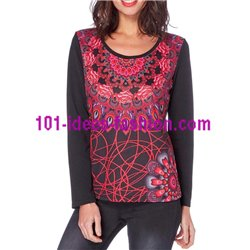 oberteile top t-shirt ethno winter 101 idées 266Z boho hippie fashion