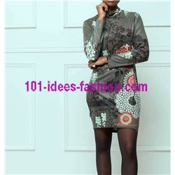 dress tunic suede ethnic winter 101 idées 3107W clothes for women
