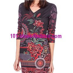 dress tunic suede ethnic winter 101 idées 03120W clothes for women