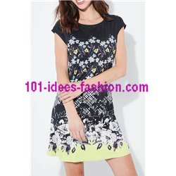 dress tunic suede floral 101 idées 3134Z clothes for women