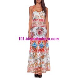 maxidress lace ethnic summer 101 idées 387VRA clothes for women