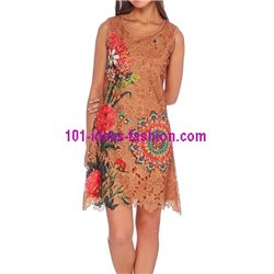 dress tunic lace summer 101 idées 1123WVRA