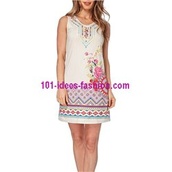 boho chic dress tunic suede summer ethnic 101 idées 328Y clothes for