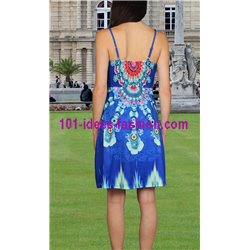 boho chic dress tunic ethnic print summer 101 idées 324Y clothes for