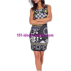 boho chic dress tunic ethnic print summer 101 idées 103Y clothes for