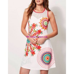 dress tunic lace summer ethnic floral 101 idées 637Y womens clothes