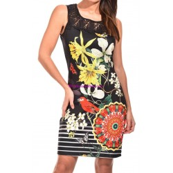 buy now dress tunic lace summer ethnic floral 101 idées 601Y clothes