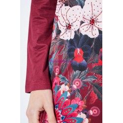 buy now dress tunic suede ethnic floral 101 idées 3114Z clothes for