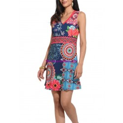 buy now dress ethnic floral plus size 101 idées 632KL clothes for