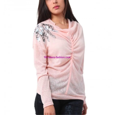 t-shirt top blusas inverno marca 101 idees 3238R oferta roupas