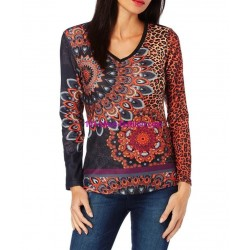 tshirt top leopardo inverno 101 idées 242IN