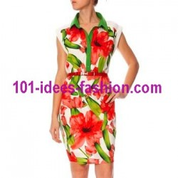tunic dress summer brand Dy Design 1720VRM polyester very cheap