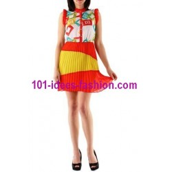 tunic dress summer brand frime 862BR boutique clothing