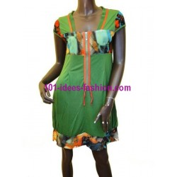 tunic dress summer brand frime 6093VRD boutique clothing