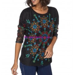 T-shirt top winter 101 idées 095W spanish style