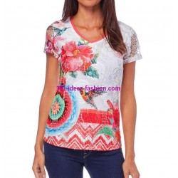 camiseta top verano marca 101 idees 296brvra elegante fashion