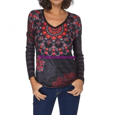 camiseta invierno mandalas 101 idées 249IN elegante fashion