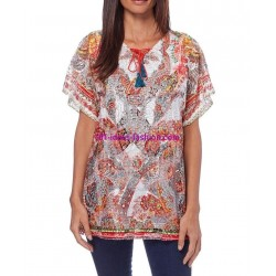 camiseta top verano marca 101 idees 357re elegante fashion