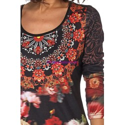 T-shirt top winter 101 idées 012W spanish style