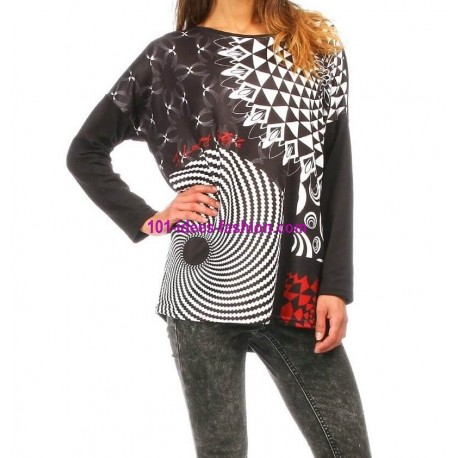t-shirts tops chemises hiver marque 101 idees 278 IN meilleurs prix