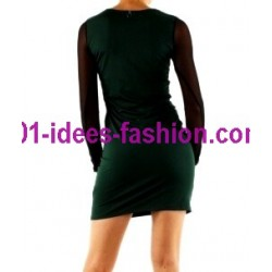 outlet vestidos tunicas inverno marca 101 idees 9004VRD