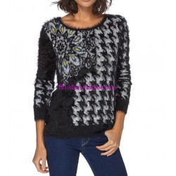 Sweater soft touch print 101 idées 8209W spanish style