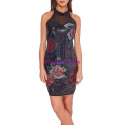 dress tunic print sequins 101 idées 258W